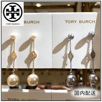 Tory Burch☆PEARL AND LOGO DROP EARRING パールピアス☆送料込