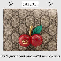 大人気!!完売前に!!★GUCCI★GG Supreme wallet with cherries