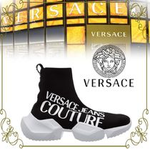 【VERSACE 海外限定!】MACROLOGO FRAGMENTED SOLE SOCK TRAINERS