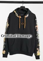 *送関込◇Criminal Damage◇barb wire flame printパーカー