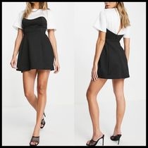 ASOS DESIGN satin tee corset mini skater dress