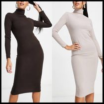ASOS I Saw It First ribbed roll neck midi dress