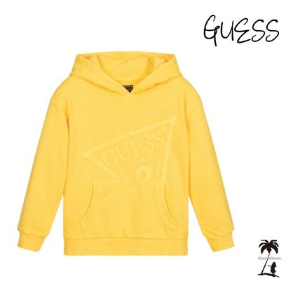 ★GUESS★Boys コットンロゴパーカー/Yellow 12M-7Y
