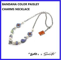 【SALUTE】EVAE+MOB - BANDANA COLOR PAISLEY CHARMS NECKLACE