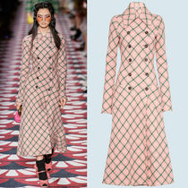 MM1257 LOOK36 DOUBLE BREASTED COAT IN CHECKED WOOL