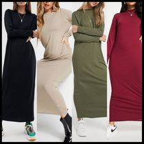 ASOS DESIGN long sleeve maxi t-shirt dress