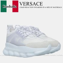 VERSACE CHAIN REACTION SNEAKERS IN A MIX OF MATERIALS