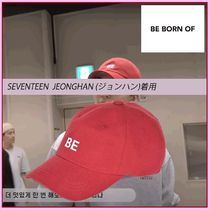 ☆SEVENTEEN ジョンハン着用☆BE Cotton cap☆RED☆BE BORN OF☆