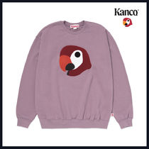 [KANCO]20FW●男女共用●BIG LOGO SWEATSHIRT gray pink
