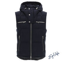 PADDED GILET WITH LOGO PRINT