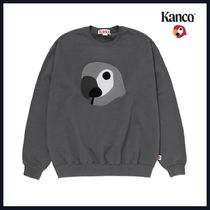 [KANCO]20FW●男女共用●BIG LOGO SWEATSHIRT charcoal