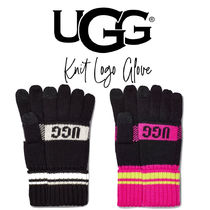 【UGG】KNIT GRAPHIC LOGO W TOUCH ニット ロゴ入り手袋