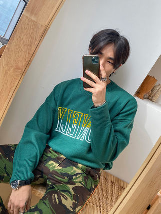 ★ASCLO★ Cavin Lonely Embroidery Round Knit