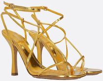 BOTTEGA VENETA▲LAMINATED LEATHER SANDALS