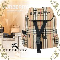 【BURBERRY VIPSALE!!】CHECKED FABRIC WILFIN BACKPACK