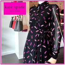 kate spade☆sweet chiffon shirtdress シャツドレス☆送料込