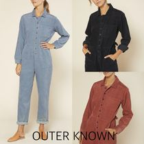 Outer known(アウターノウン) オールインワン・サロペット 【Outer known】コーデュロイ 長袖ジャンプスーツ ☆大注目☆