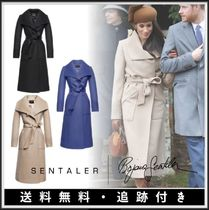 【メーガン妃着用】SENTALER★LONG WIDE COLLAR WRAP COAT