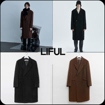 【 LIFUL 】★韓国大人気★CUT-OFF DOUBLE BREASTED COAT