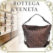 【BOTTEGA VENETA VIPSALE!!】BRAIDED LEATHER HOBO BAG