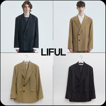 【 LIFUL 】★韓国大人気★CUT-OFF DOUBLE BREASTED BLAZER