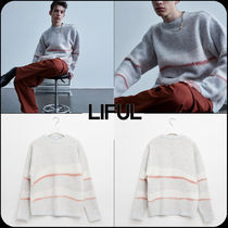 【 LIFUL 】★韓国大人気★MOHAIR WAVY STRIPED KNIT