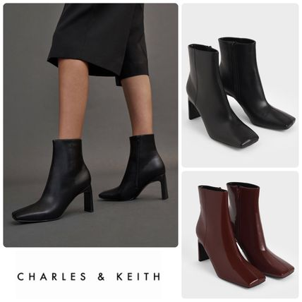 ★CHARLES&KEITH★Blade Heel Ankle Boots ブーツ/送料込