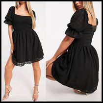 ASOS Missguided shirred skater dress