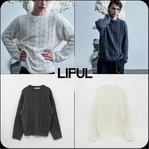 【 LIFUL 】★限定販売★KID MOHAIR CABLE KNIT SWEATER