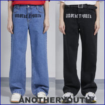 ANOTHERYOUTH★大人気 UNISEX★ lettering washing deinm pts