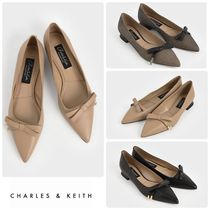 ★CHARLES&KEITH★Leather Bow Ballerina Flats/送料込