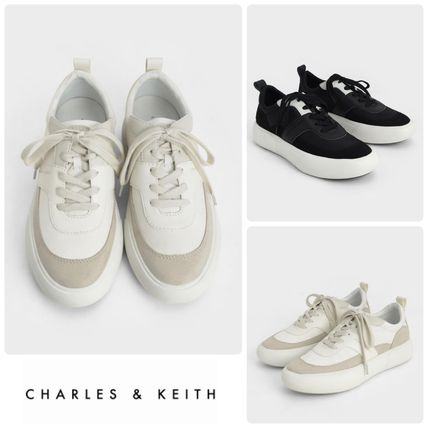 ★CHARLES&KEITH★Textured Low Top Sneakers/送料込