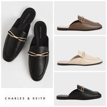 ★CHARLES&KEITH★Metallic Accent Loafer Mules/送料込