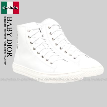 Dior(ディオール) キッズスニーカー BABY DIOR SMOOTH LEATHER HIGH-TOP SNEAKERS