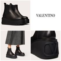 【直営店】ヴァレンティノ UNIQUEFORM CALFSKIN ANKLE BOOT 85MM