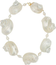 PRADA▲SHELLS AND PEARLS NECKLACE
