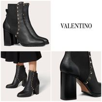 【直営店】 ヴァレンティノ ROCKSTUD CALFSKIN ANKLE BOOT 80 MM