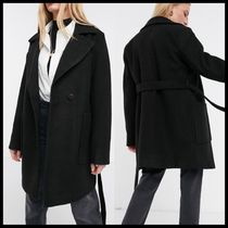 ASOS Fashion Union wrap coat with belt