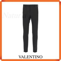 Valentino Trousers With Jersey Side Bands