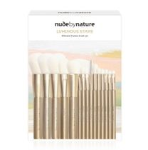 nude by nature(ヌードバイネイチャー) ブラシ 限定☆ブラシケース付★nude by nature★メイクブラシ15本セット