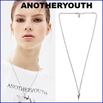 ANOTHERYOUTH★UNISEX★curve pendant necklace (silver 925)