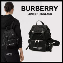 ★BURBERRY★ ロゴプリント エコナイロン リュックサック 関税込