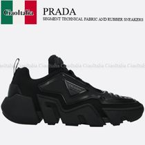 PRADA SEGMENT TECHNICAL FABRIC AND RUBBER SNEAKERS