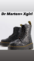 Dr Marten×Xgirl chunky flatform boots with logo laces
