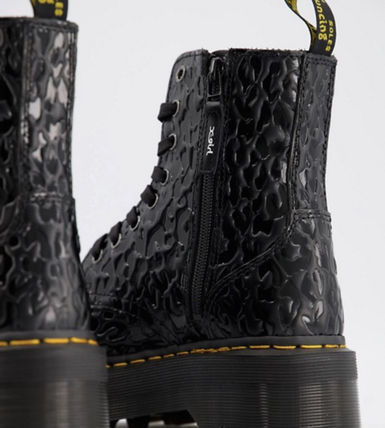 Dr Martens ショートブーツ・ブーティ Dr Marten×Xgirl chunky flatform boots with logo laces(2)