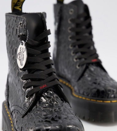 Dr Martens ショートブーツ・ブーティ Dr Marten×Xgirl chunky flatform boots with logo laces(3)