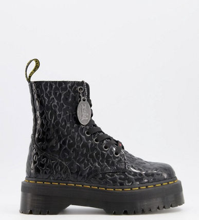 Dr Martens ショートブーツ・ブーティ Dr Marten×Xgirl chunky flatform boots with logo laces(4)