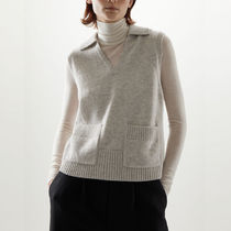 COS LAMBSWOOL V-NECK COLLAR KNITTED VEST