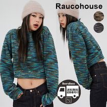Raucohouse Color Mixed Crop Knit BBH991 追跡付