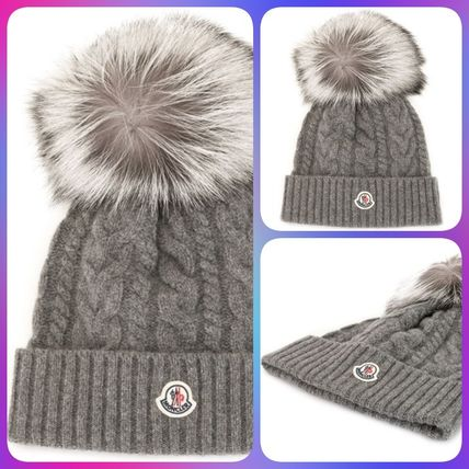 MONCLER AW20 フロントロゴパッチ トリコット ビーニーハット